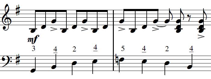 In the Mood - bluesová ligatura